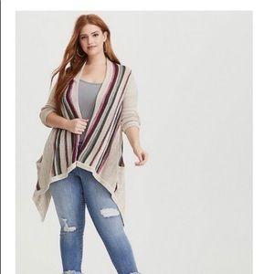 Torrid striped cardigan. Size 2 Plus